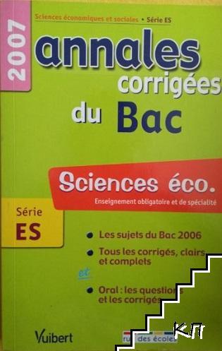 Sciences éco: Annales corrigées du Bac