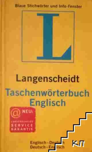 Langenscheidt Taschenlwörterbuch Englisch: Englisch-Deutsch / Deutsch-Englisch