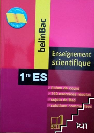 BelinBac. Enseignement scientifique 1re ES