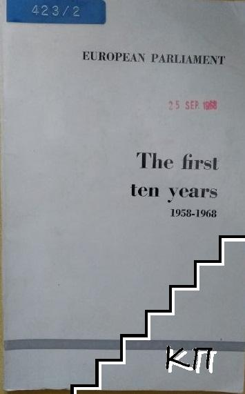 The first ten years 1958-1968