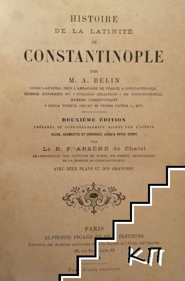 Histoire de la Latinité de Constantinople