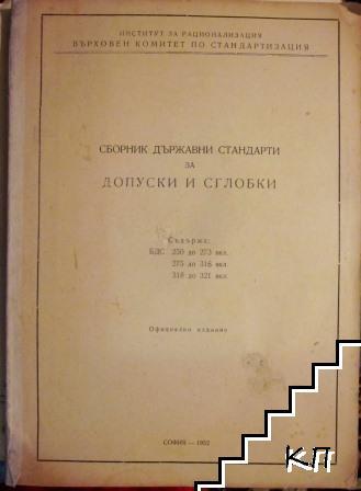 Сборник държавни стандарти за допуски и сглобки