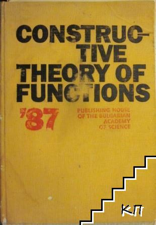Constructive Theory of Functions '87