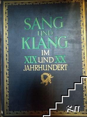 Sang und Klang im XIX und XX Jahrhundert. Band 5
