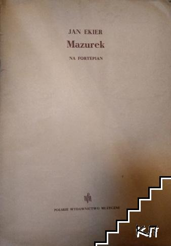 Mazurek na fortepian
