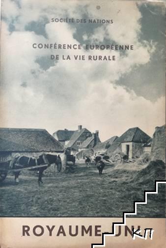 Société des nations. Conférence européenne de la vie rurale: Royaume-Uni