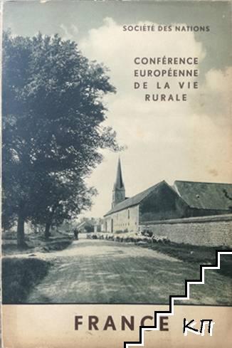 Société des nations. Conférence européenne de la vie rurale: France