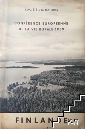 Société des nations. Conférence européenne de la vie rurale: Finlande