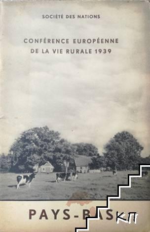 Société des nations. Conférence européenne de la vie rurale: Pays-Bas