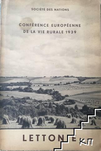 Société des nations. Conférence européenne de la vie rurale: Lettonie