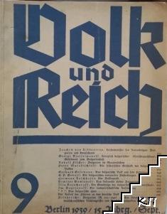 Volk und Reich. Heft 9 / 1939