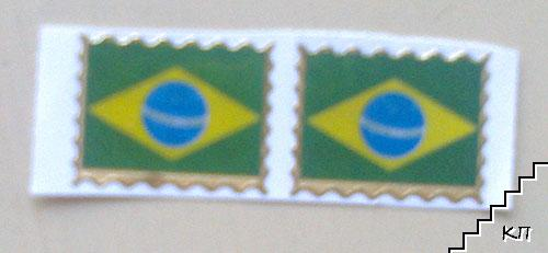 Флаг на Бразилия. Стикери