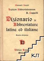 Lexicon Abbreviaturarum: Dizionario Di Abbreviature Latine Ed Italiane