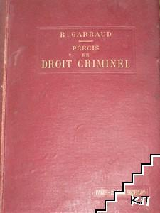 Précis de droit criminel