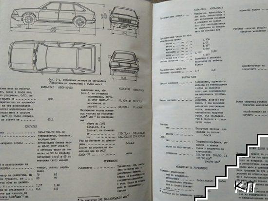 Техническо описание на автомобили АЗЛК-2141 и АЗЛК-21412 (Допълнителна снимка 1)