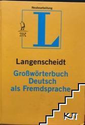 Langenscheidt. Großwörterbuch Deutsch als Fremdspache