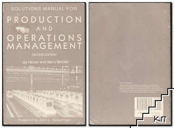Solutions Manual for Production and Operations Management: Strategies and Tactics
