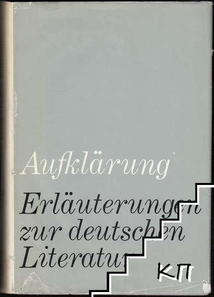 Aufklärung: Erläuterungen zur deutschen Literatur
