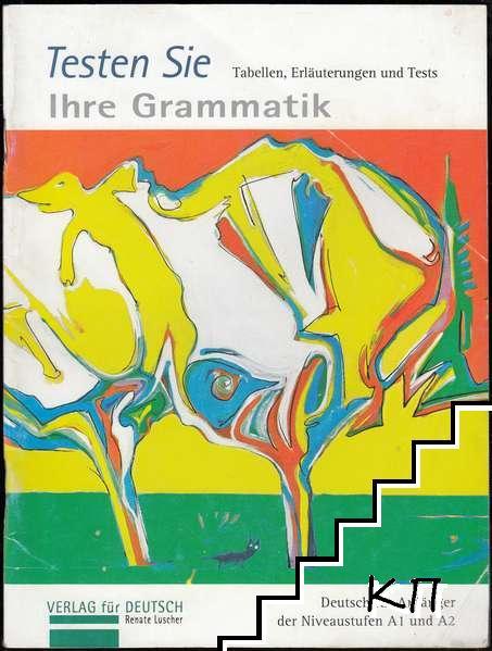 Testen Sie Ihre Grammatik. Tabellen, Erläuterungen und Tests
