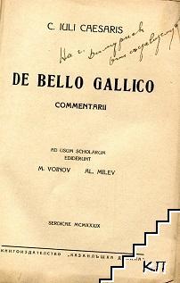 De bello gallico commentarii