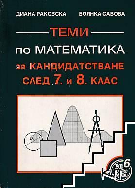 Теми по математика за кандидатстване след 7.-8. клас