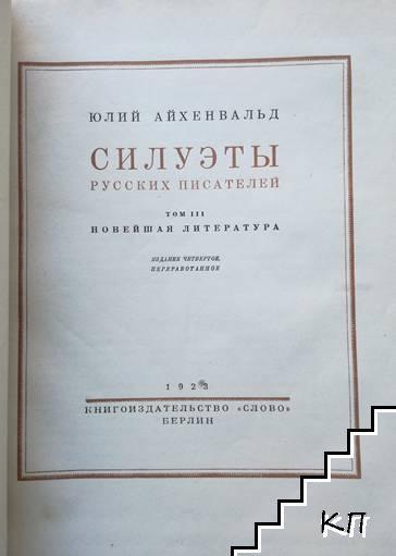 Силуэты русских писателей. Том 3: Новейшая литература