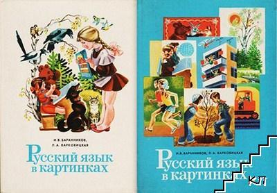 Русский язык в картинках в двух частях. Часть 1-2
