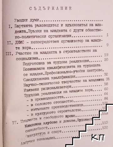 Реализацията на младежта в Толбухински окръг