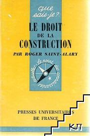 Le droit de la construction