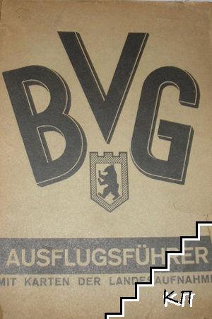 BVG. Ausflugsführer mit karten der landesaufnahme