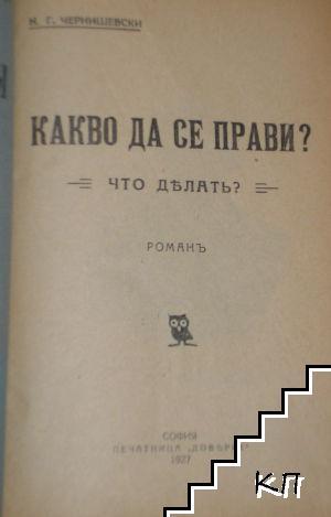 Какво да се прави? / Что делать?