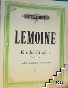 Kinder-Etüden für Klavier. Op. 37
