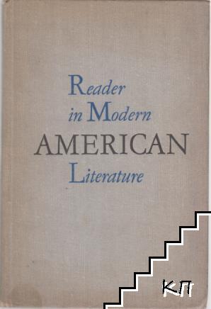 Reader in Modern American Literature 1917-1941