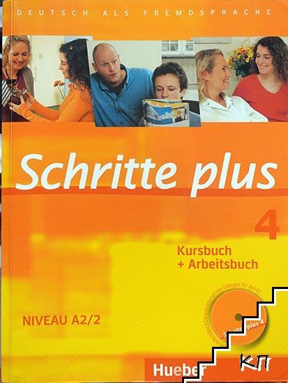 Schritte plus 4. Niveau A2/2. Kursbuch + Arbeitsbuch