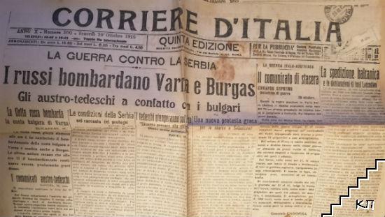 Corriere D'Italia / Vendredi 29 Ottobre 1915