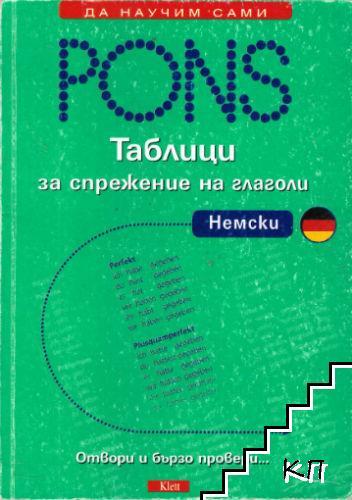 Pons. Таблици за спрежение на глаголи: Немски
