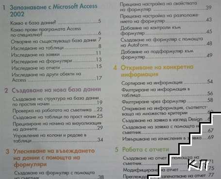 Access 2002 за всеки - цветен самоучител (Допълнителна снимка 2)