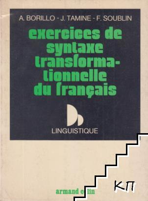 Exercices de syntaxe transformationnelle du français