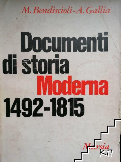 Documenti di storia Moderna 1492-1815