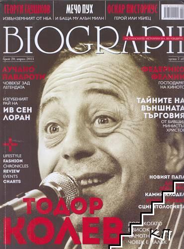 Biograph. Бр. 20 / април 2013