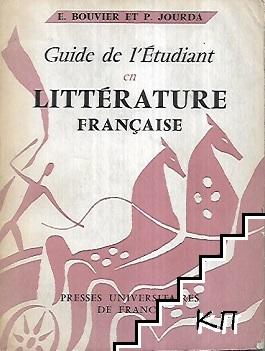 Guide de l'étudiant en littérature française