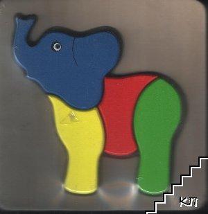 Дървен пъзел: Слон