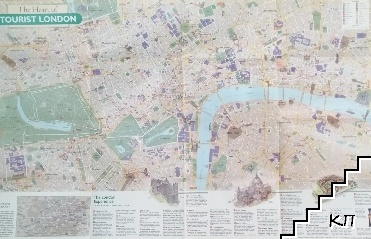 The heart of tourist London / The traveler's map of Britain & Ireland