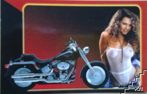 Календар картичка 2006. Момиче с мотор