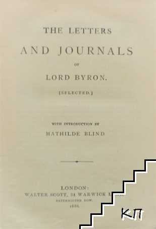 The Letters and Journals of Lord Byron
