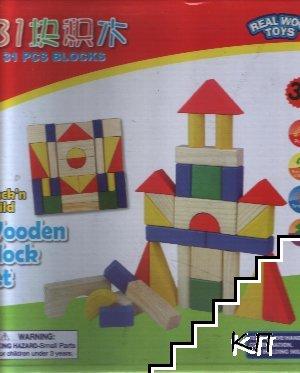 Дървен пъзел: Замък 31 елемента