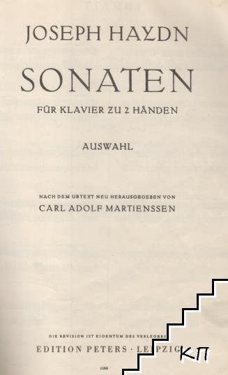 Sonaten für Klavier zu z händen