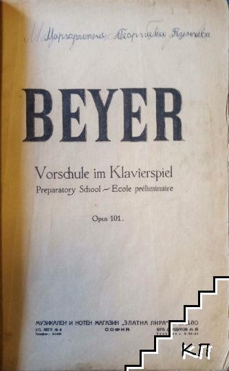 Vorschule im Klavierspiel. Op. 101
