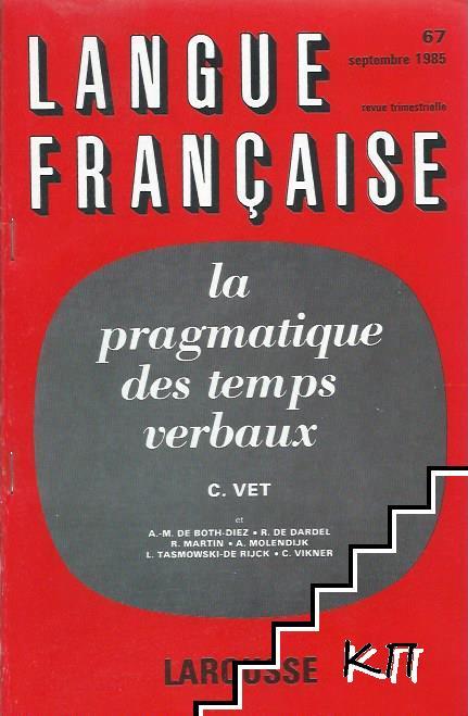 Langue Française. № 67 / 1985