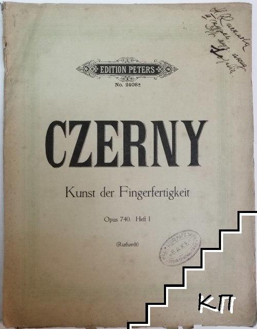 Kunst der Fingerfertigkeit. Opus 740. Heft 1